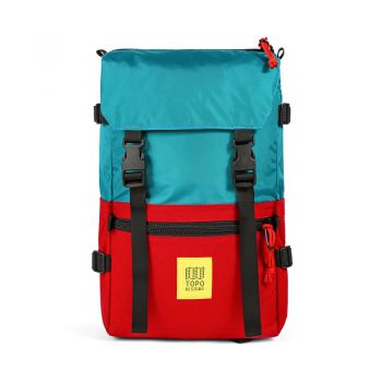 Topo designs ROVER PACK CLASSIC TURQUOISE/RED
