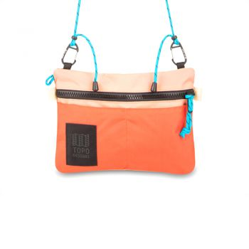 Topo Designs CARABINER SHOULDER ACCESSORY BAG HOT CORAL/PEACH