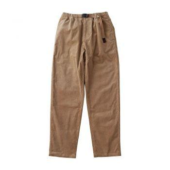 Gramicci MEN'S CORDUROY TUCK TAPERED PANTS BEIGE