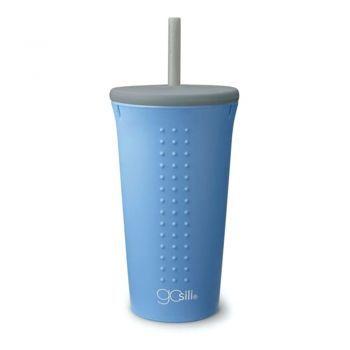 Gosili STRAW CUP 16OZ 1PK FOG GREY/FOG GREY/FOG BLUE