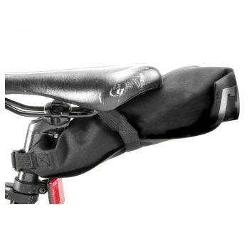 Chrome KNURLED WELDED GRAVEL SEAT BAG BLACK