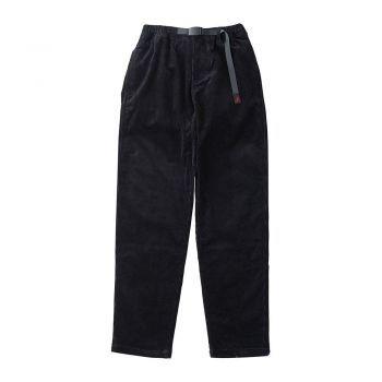 Gramicci MEN'S CORDUROY TUCK TAPERED PANTS BLACK
