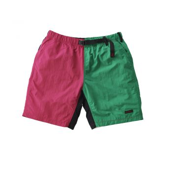 Gramicci UNISEX SHELL PACKABLE SHORTS RASPBERRY x KELLY