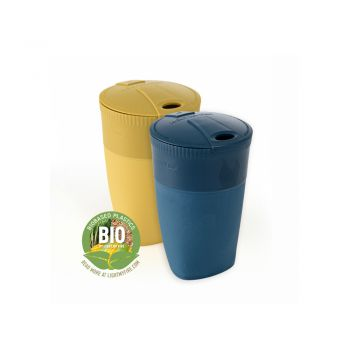 PACK-UP-CUP BIO 2-PACK MUSTYYELLOW/HAZYBLUE