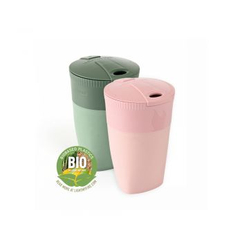 PACK-UP-CUP BIO 2-PACK DUSTYPINK/SANDYGREEN