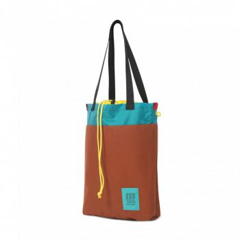 Topo designs CINCH TOTE CLAY/TURQUOISE