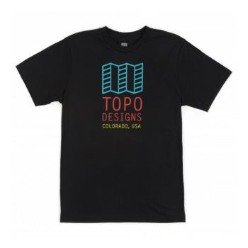 Topo designs ORIGINAL LOGO TEE M NAVY