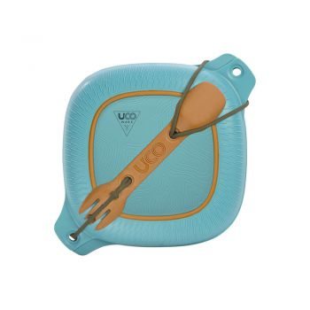 Uco Gear 4 PC MESS KIT,CLASSIC BLUE