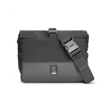 Chrome DOUBLETRACK HANDLEBAR BAG BLACK